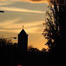 Manuka Catholic Church at Sunset by Cliff Manley