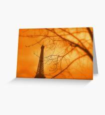 Eiffel orange Greeting Card
