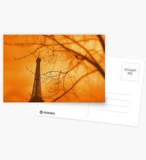 Eiffel orange Postcards