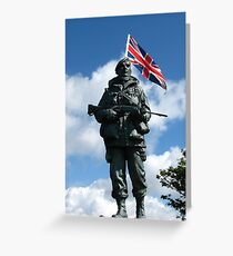 Royal Marines Statue, Portsmouth Greeting Card