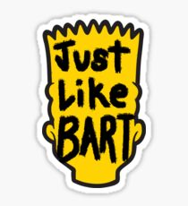 Just Like Bart! Sticker