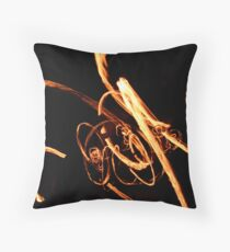 Fire twirling Throw Pillow