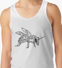 """Bee Spirit"" ver.1 - Surreal abstract tribal bee totem animal Tank Top"