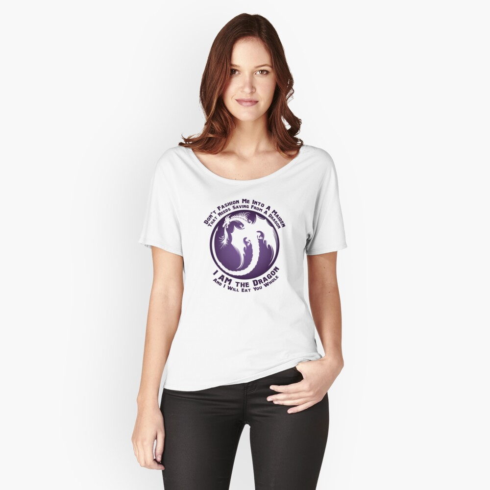 I AM the Dragon Women's Relaxed Fit T-Shirt Front
