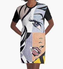 Lichtenstein's Girl Graphic T-Shirt Dress