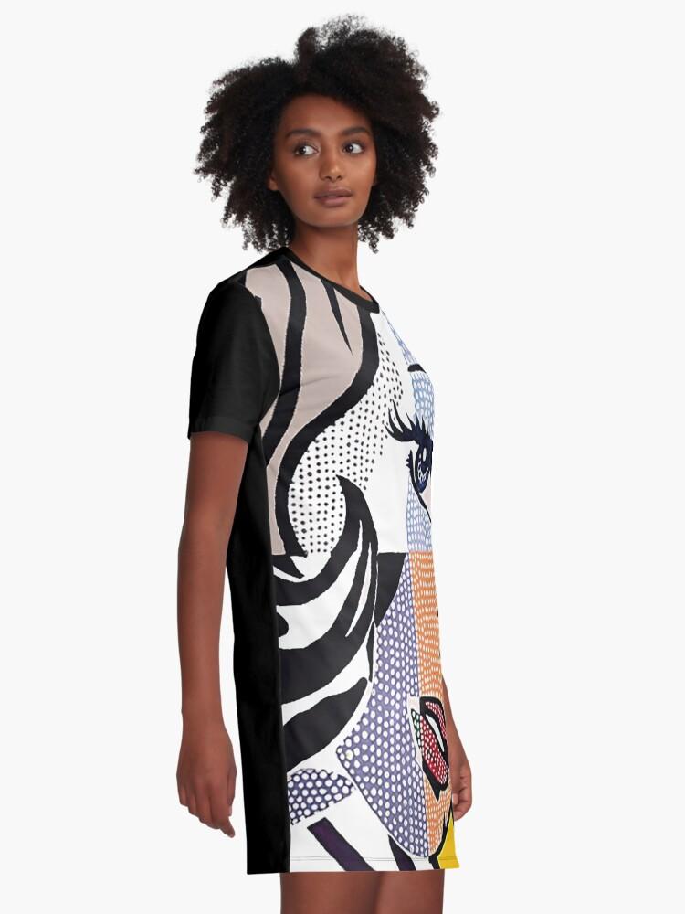 Alternative Ansicht von Lichtensteins Mädchen T-Shirt Kleid