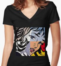 Lichtenstein's Girl Women's Fitted V-Neck T-Shirt