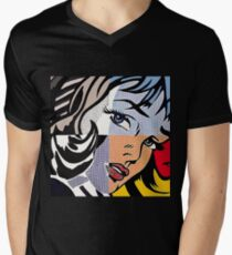 Lichtenstein's Girl V-Neck T-Shirt