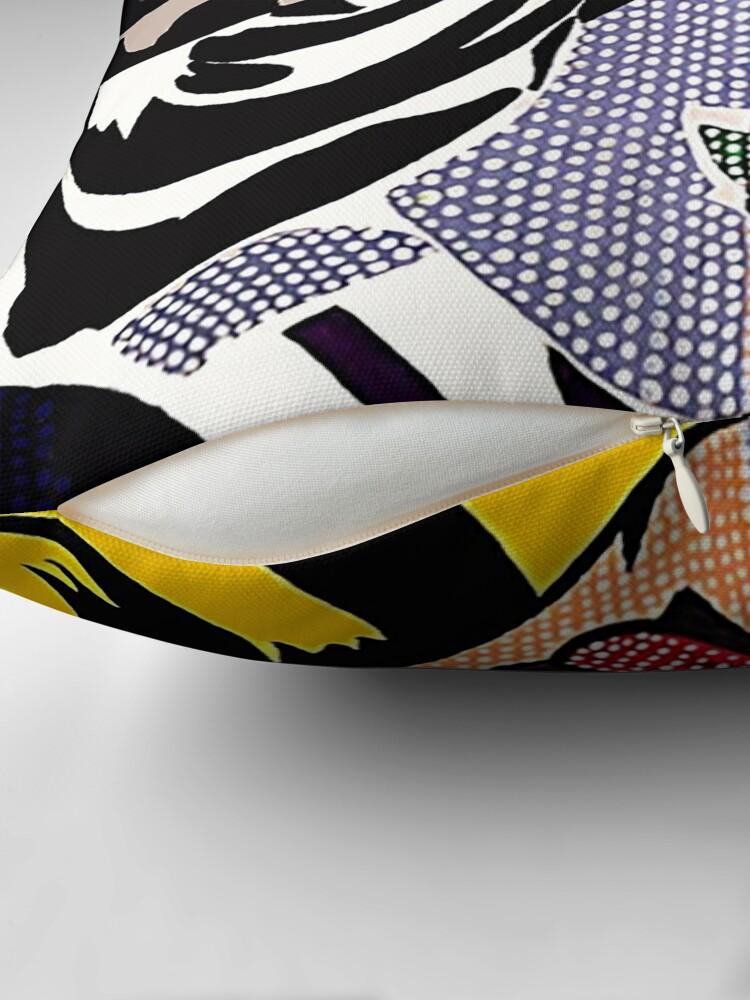 Alternate view of Lichtenstein's Girl Throw Pillow