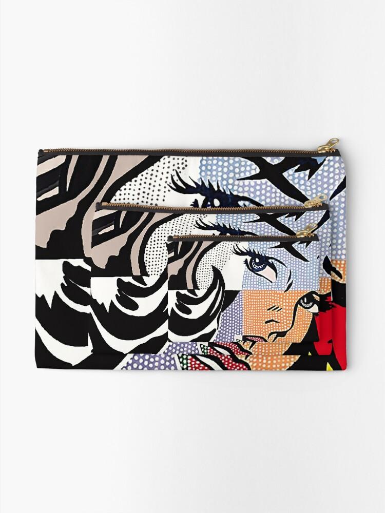 Alternate view of Lichtenstein's Girl Zipper Pouch