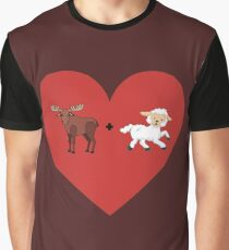 Moose and Lamb Muslim Love  Graphic T-Shirt