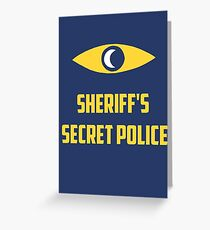 Nightvale secret police Greeting Card