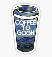 Kaffee zu gogh Sticker