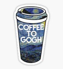 coffee to gogh Sticker