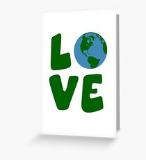 Love the Mother Earth Planet Greeting Card
