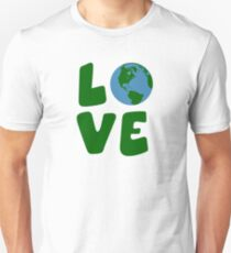 Love the Mother Earth Planet Slim Fit T-Shirt