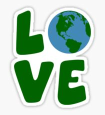Love the Mother Earth Planet Sticker