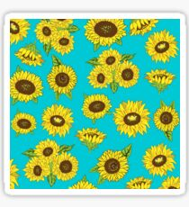 Grunge Sunflower Pattern Sticker