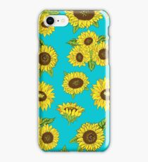 Grunge Sunflower Pattern iPhone Case/Skin