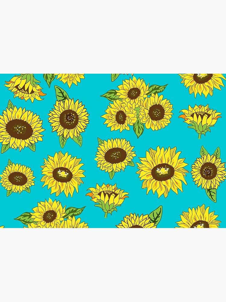 Grunge Sunflower Pattern by lunaelizabeth
