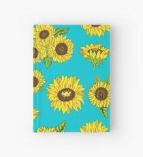 Grunge Sunflower Pattern Hardcover Journal