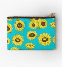 Grunge Sunflower Pattern Studio Pouch