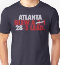 Atlanta Blew A (3-1) 28-3 Lead. (Silver/Red) Unisex T-Shirt