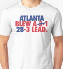 Atlanta Blew A (3-1) 28-3 Lead. (Vintage Blue/Red) Unisex T-Shirt