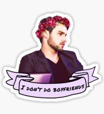 I Don't Do Boyfriends (flower crown) Sticker