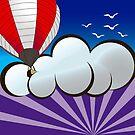 Hot Air Baloon Sunrise by kgittoes