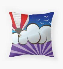 Hot Air Baloon Sunrise Throw Pillow