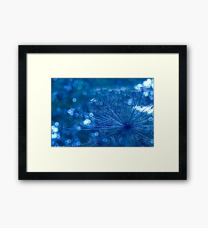 Sparkling Blue Imagination Framed Print