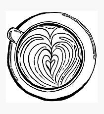 Cappuccino Lover Photographic Print