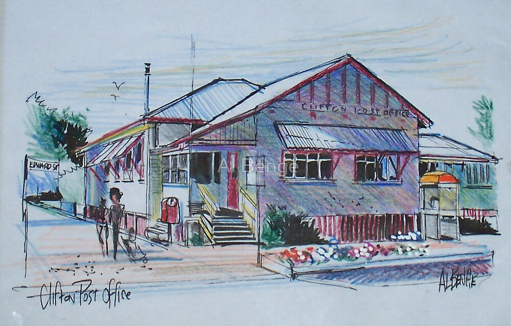 Country Post Office, Clifton, Queensland Australia by Al Benge