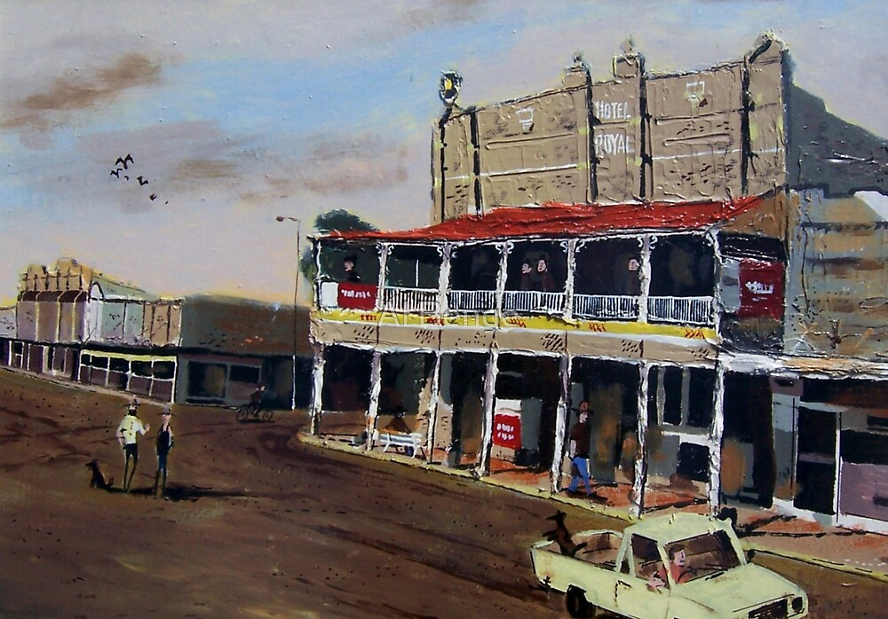 Royal Hotel, Roma, Queensland Australia by Al Benge