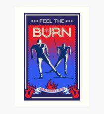Feel the Burn cross country ski Art Print