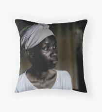 rwandan woman Throw Pillow