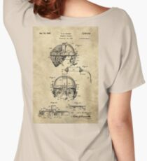 Antique Welders Goggles blueprint drawing, 1938 industrial Women's Relaxed Fit T-Shirt