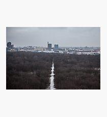Winter View at Tiergarten Berlin Photographic Print