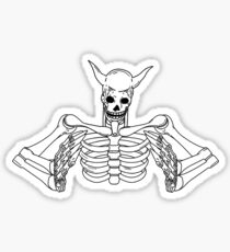 SUSANOO SKELETON (PLAIN, WHITE) Sticker