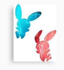 Plusle and Minun used Spark Canvas Print