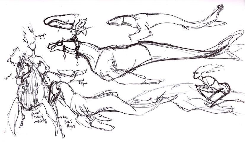 Cetacean Ver. 1 - Sketch Evolution by SugarSniper