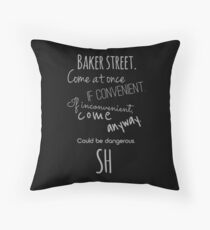 Sherlock (Come Anyway) Throw Pillow