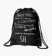 Sherlock (Come Anyway) Drawstring Bag