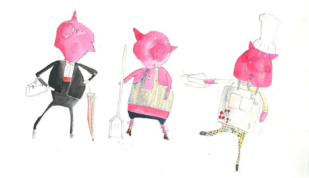 Three little pigs by C Lance