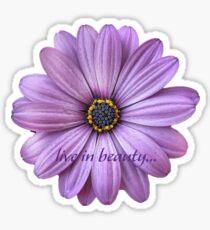 live in beauty Sticker