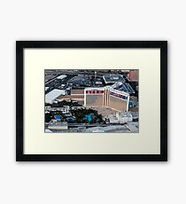 Aerial view of the Mirage Hotel on the Strip, Las Vegas, Nevada, USA Framed Print