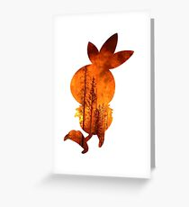 Torchic used Overheat Greeting Card