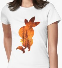 Torchic used Overheat Women's Fitted T-Shirt