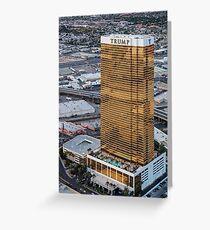 Aerial view of Trump International Hotel Las Vegas, Nevada, USA Greeting Card